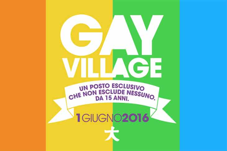 Programma Gay Village 2016