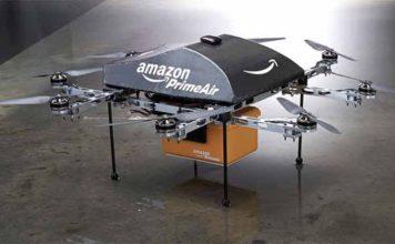 Spesa Amazon arriva dal cielo