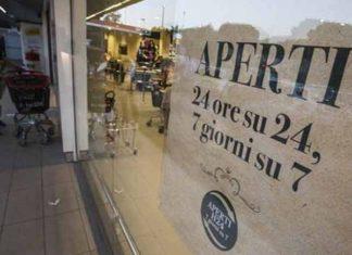 Supermercati notturni Roma.