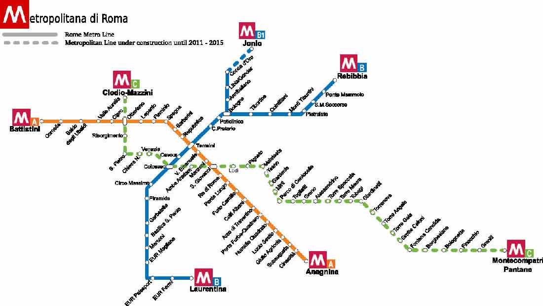 Mappa Metropolitana di Roma